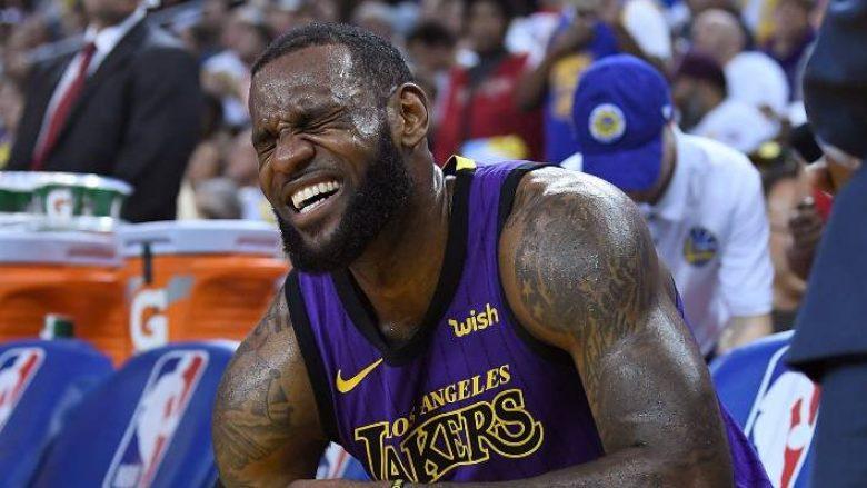LeBron James nuk do të paraqitet edhe në tri ndeshjet e ardhshme të Lakersave
