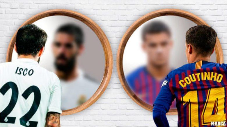 Ngjashmëritë dhe dallimet në rastin e Iscos në Real Madrid dhe Coutinhos te Barcelona