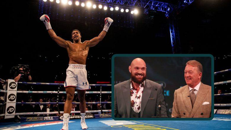 Anthony Joshua, Tyson Fury, Frank Warren (Foto: Getty Images/Guliver)