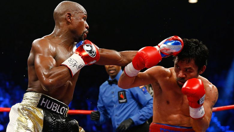Floyd Mayweather dhe Manny Pacquiao (Foto: Al Bello/Getty Images/Guliver)
