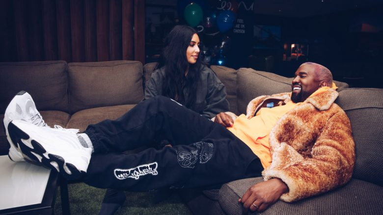 INGLEWOOD, CALIFORNIA - DECEMBER 19:  In this handout photo provided by Forum Photos, Kim Kardashian West and Kanye West attend the Travis Scott Astroworld Tour at The Forum on December 19, 2018 in Inglewood, California.  (Photo by Rich Fury/Forum Photos via Getty Images)