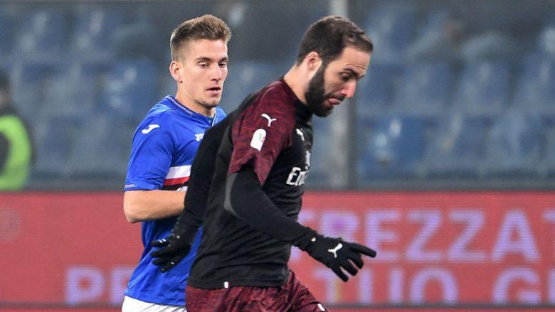 Milani fiton në vazhdime ndaj Sampdorias dhe kualifikohet në çerekfinale të Kupës së Italisë