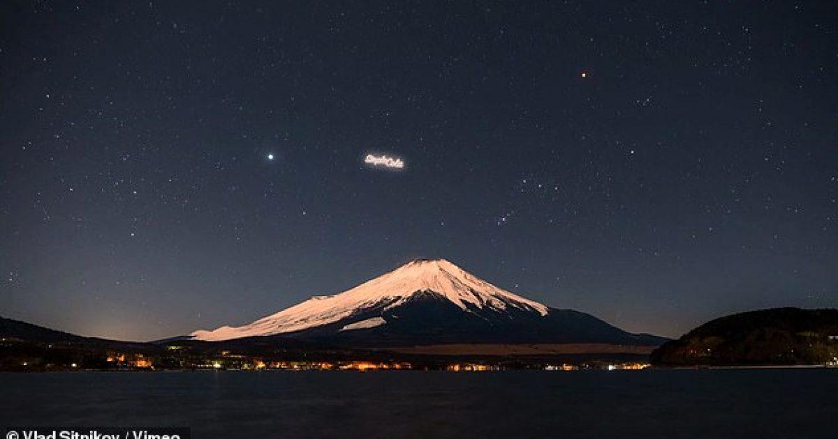 Kompania planifikon vënien e reklama në qiell, që do shihen natën nga të gjithë (Video)