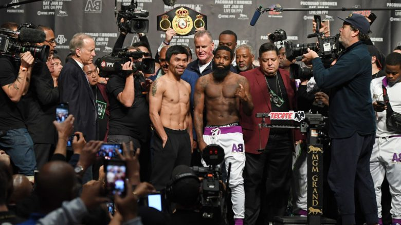 Manny Pacquiao dhe Adrien Broner (Foto: Ethan Miller/Getty Images/Guliver)