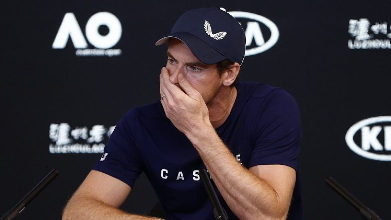 epa07274268 Andy Murray of Britain speaks to the media during a press conference ahead of the start of the Australian Open in Melbourne, Australia, 11 January 2019. Three-time grand-slam champion Andy Murray is weighing up retiring after the Australian Open, admitting he can no longer play at the top level.  EPA-EFE/DANIEL POCKETT EDITORIAL USE ONLY NEW ZEALAND OUT
