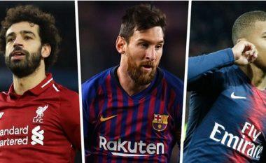 Gara për 'Këpucën e Artë' 2018-19: Messi, Mbappe, Ronaldo dhe të tjerët