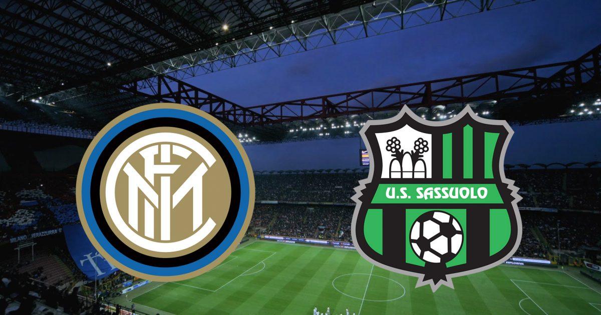 Inter – Sassuolo, formacionet zyrtare