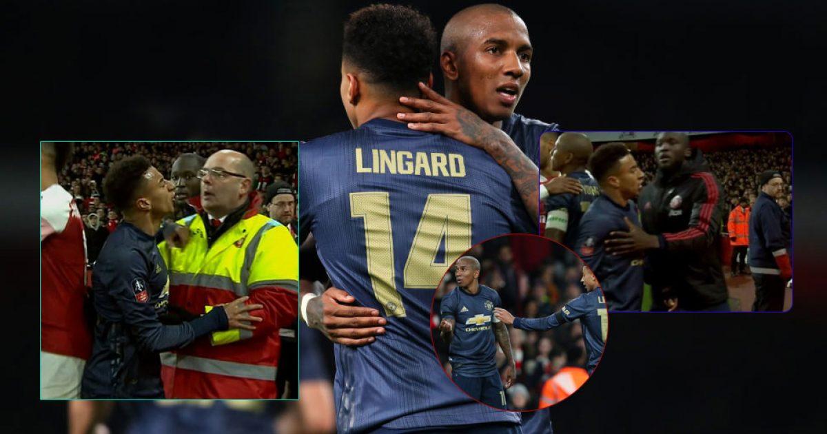 Lingard u përfshi në një zënkë verbale me tifozët e Arsenalit, pasi u hodh një monedhë drejt tij