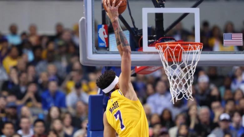 Lakers edhe pa Jamesin triumfon kundër Mavericks