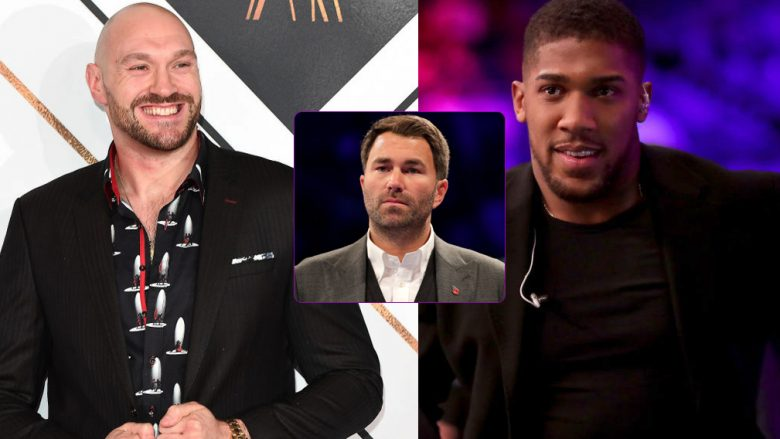 Tyson Fury, Anthony Joshua, Eddie Hearn (Foto: Getty Images/Guliver)