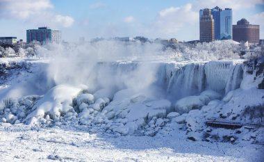 Pasojat e temperaturave të ulëta, ngrihet ujëvara e Niagarës (Video)