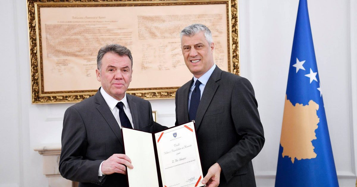 """Ilir Shaqiri laureohet me titullin """"Nderi i Republikës së Kosovës"""""""