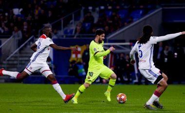 Lyon–Barcelona nuk prodhon gola, çerekfinalisti vendoset në Camp Nou
