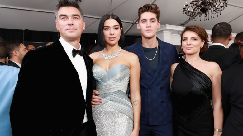 Dua Lipa, Isaac Carew and guests attend the 61st Annual GRAMMY Awards at Staples Center on February 10, 2019 in Los Angeles, California.  (Photo by Rich Fury/Getty Images for The Recording Academy)