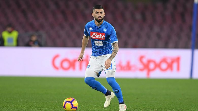 NAPLES, ITALY - FEBRUARY 02:  Elseid Hysaj of SSC Napoli in action during the Serie A match between SSC Napoli and UC Sampdoria at Stadio San Paolo on February 2, 2019 in Naples, Italy.  (Photo by Francesco Pecoraro/Getty Images)