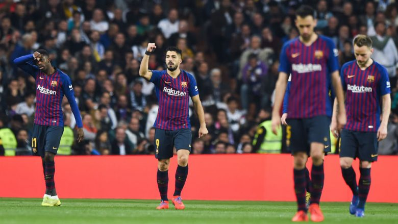 Festa e Luis Suarezit te goli i parë në ndeshje (Foto: Denis Doyle/Getty Images/Guliver)
