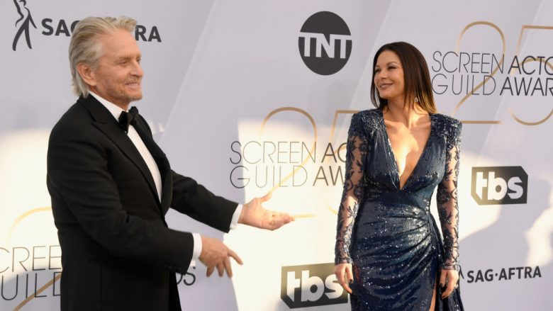 Catherine Zeta-Jones dhe Michael Douglas (Photo by Frazer Harrison/Getty Images)