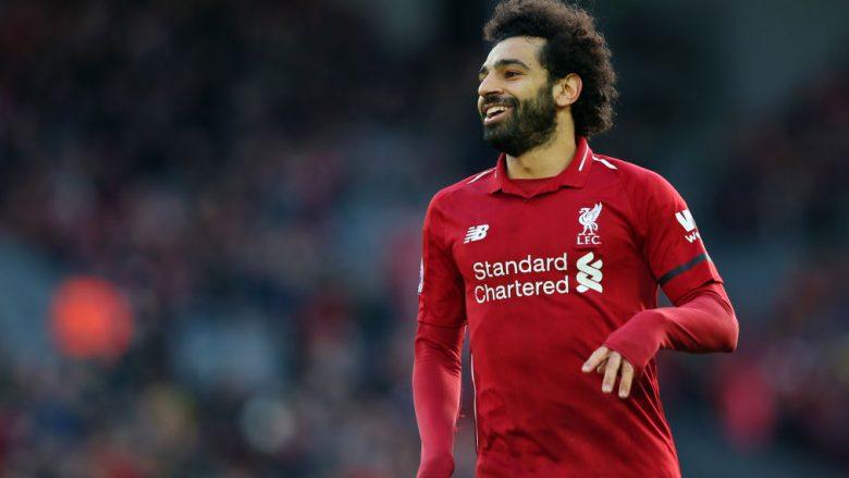 Mohamed Salah gjatë një momenti të ndeshjes Liverpool-Bournemouth në Anfield (Foto: Alex Livesey/Getty Images/Guliver)