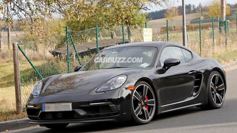 Porsche Cayman GT4 kapet gjatë testimit në rrugë (Foto)