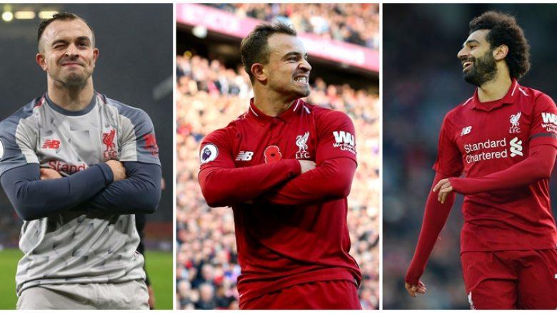 Salah imiton Shaqirin me festimin e golit ndaj Bournemouthit