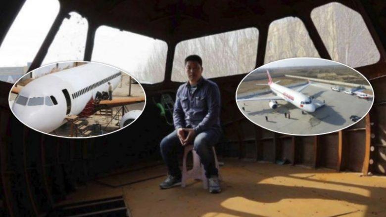 Burri kinez ndërton një aeroplan Airbus A320 – të madhësisë reale