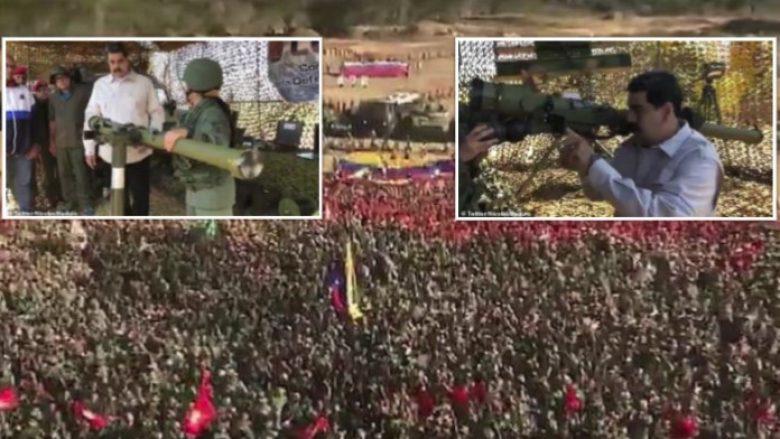 """Maduro tregon fuqinë e tij, nis """"stërvitjet më të mëdha ushtarake në historinë e Venezuelës"""" (Video)"""