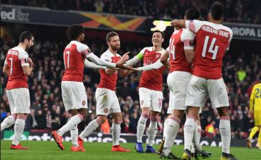 Xhaka e Mustafi shkëlqejnë, Arsenali përmbys Bate Borisovin