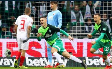 Rashica shënon përsëri, tjetër gol i bukur nga ylli i Kosovës me Bremenin, por vushtrriasi lëndohet dhe del nga loja