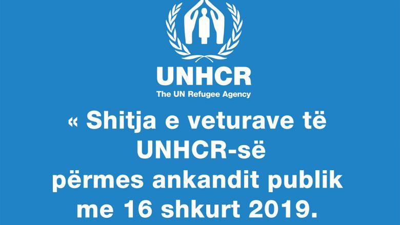 Më 16 shkurt 2019 bëhet shitja e veturave të UNHCR-së nëpërmjet ankandit publik