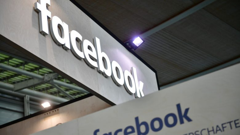 The Facebook logo is displayed at the 2018 CeBIT technology trade fair on June 12, 2018 in Hanover, Germany. The 2018 CeBIT is running from June 11-15. (Photo by Alexander Koerner/Getty Images/Guliver)
