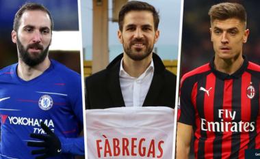 Nga Higuain te Piatek e Fabregas, Goal.com zgjedh formacionin më të mirë të transferimeve të janarit