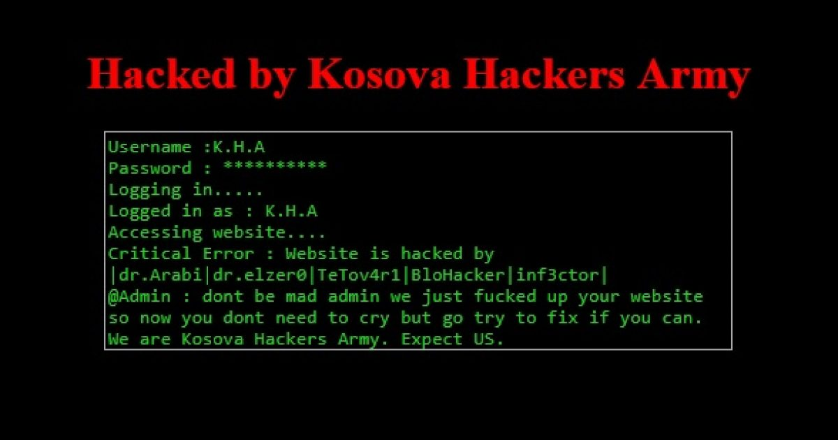 """""""Kosova Hackers Army"""" ka hakuar disa ueb-faqe të Serbisë"""