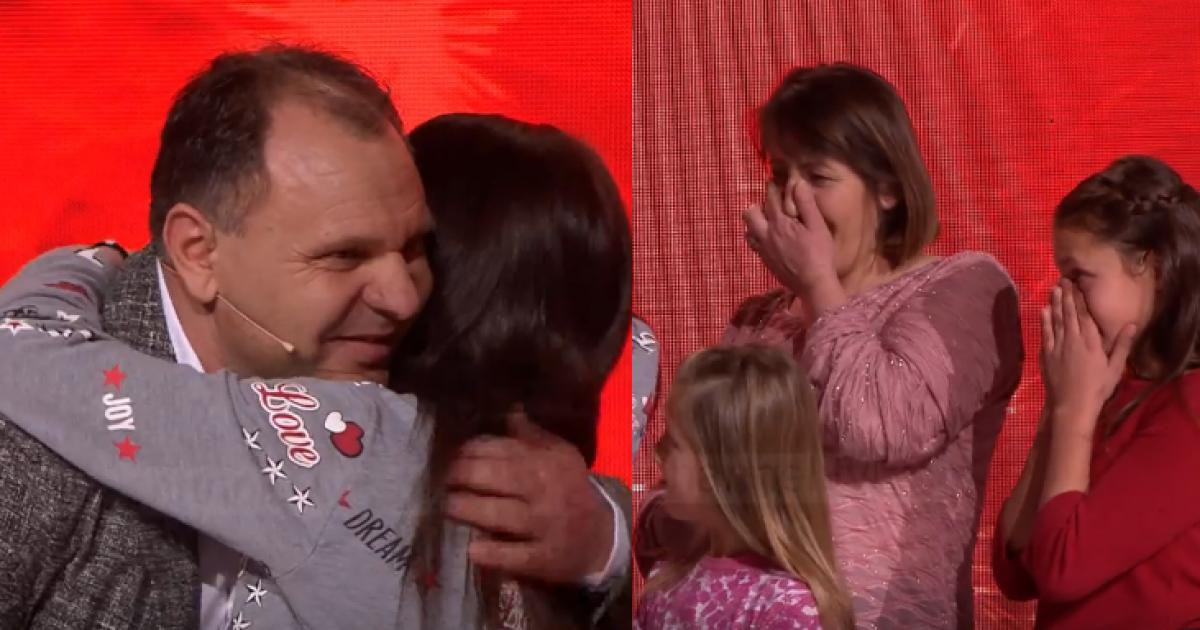 Lot gëzimi – biznesmeni nga Kosova, Shaqir Palushi, i dhuron një shtëpi familjes shqiptare 'live' në emision