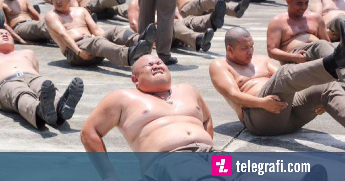 Policët kinezë me mbipeshë dërgohen në kamp për tu dobësuar