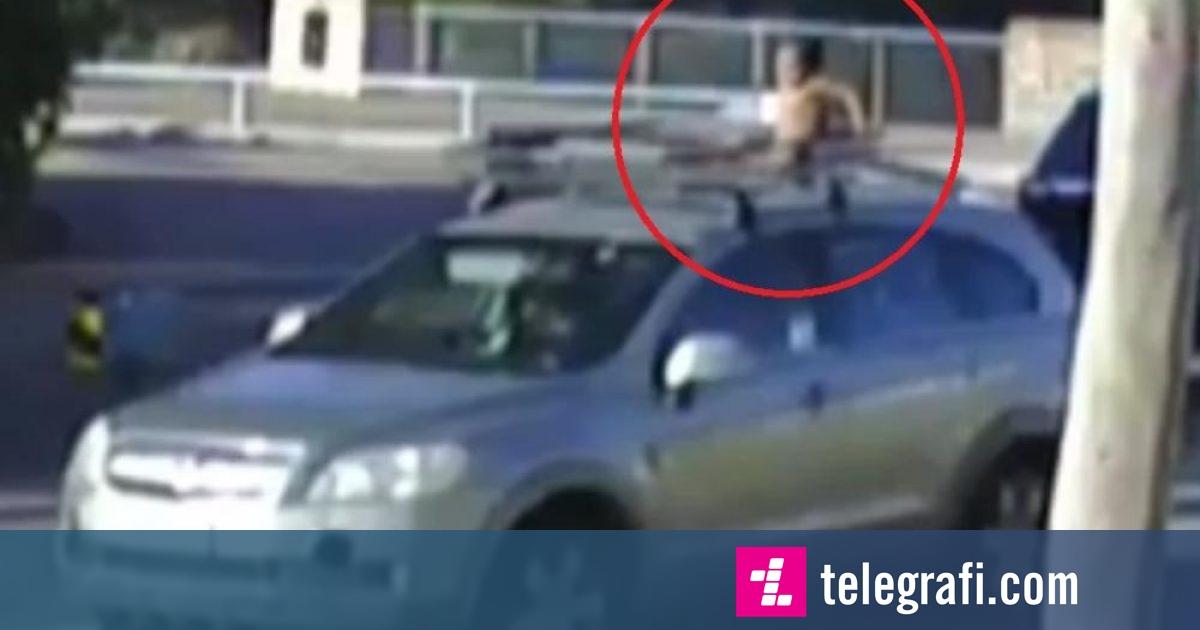 Voziti për 18 minuta me 100 km/h me të birin 4-vjeçar në kulm, australianes i konfiskohet patentë shoferi (Video)