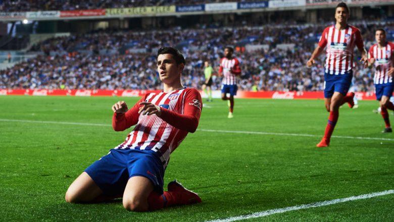 Alvaro Morata duke festuar golin ndaj Atletico Madridit (Foto: Juan Manuel Serrano Arce/Getty Images/Guliver)