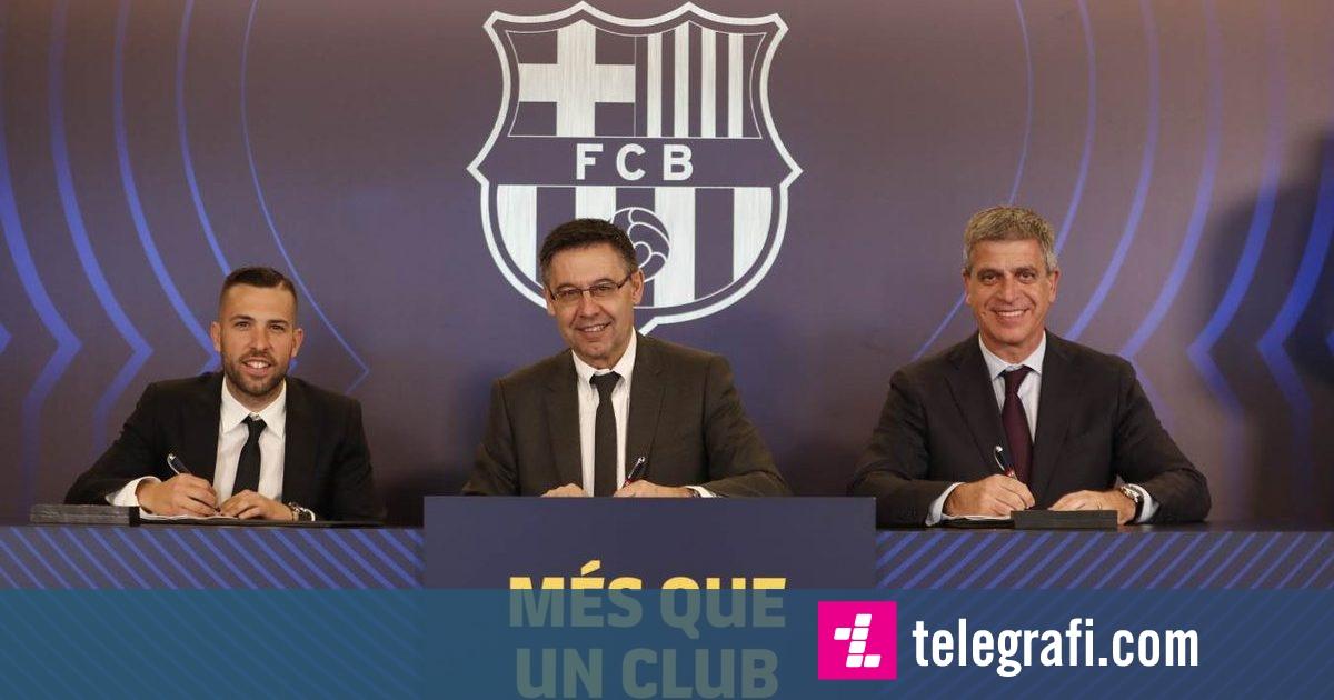 Zyrtare: Jordi Alba rinovon me Barçën deri në 2024