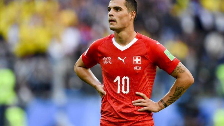 Granit Xhaka me një goditje të fuqishme shënon super gol në portën e Kasper Schmeichel