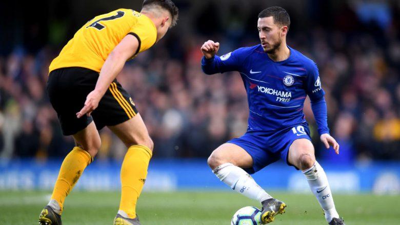 Eden Hazard e barazoi rezultatin në minutat shtesë (Foto: Laurence Griffiths/Getty Images/Guliver)