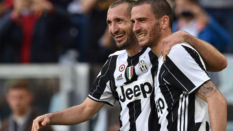 Giorgio Chiellini e Leonardo Bonucci .  (Photo by Valerio Pennicino/Getty Images)