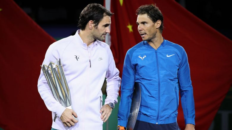 Roger Federer dhe Rafael Nadal (Foto by Lintao Zhang/Getty Images/Guliver)