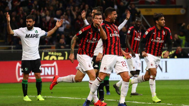 Milani mposht Sassuolon dhe e kalon Interin në tabelë