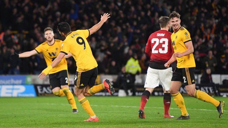 Raul Jimenez pas golit ndaj Man Utd (Foto: Michael Regan/Getty Images/Guliver)
