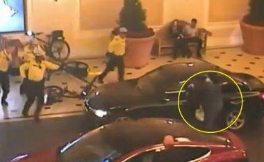 Kërkoi para brenda në kazino, kur doli tentoi të vidhte një veturë – pamjet kur hajni qëllohet për vdekje nga policia (Video)