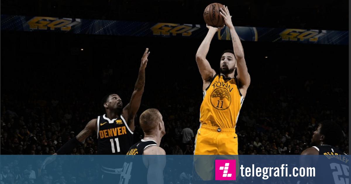 Thompson shkëlqen, kampioni pa problem ndaj ndaj Nuggets