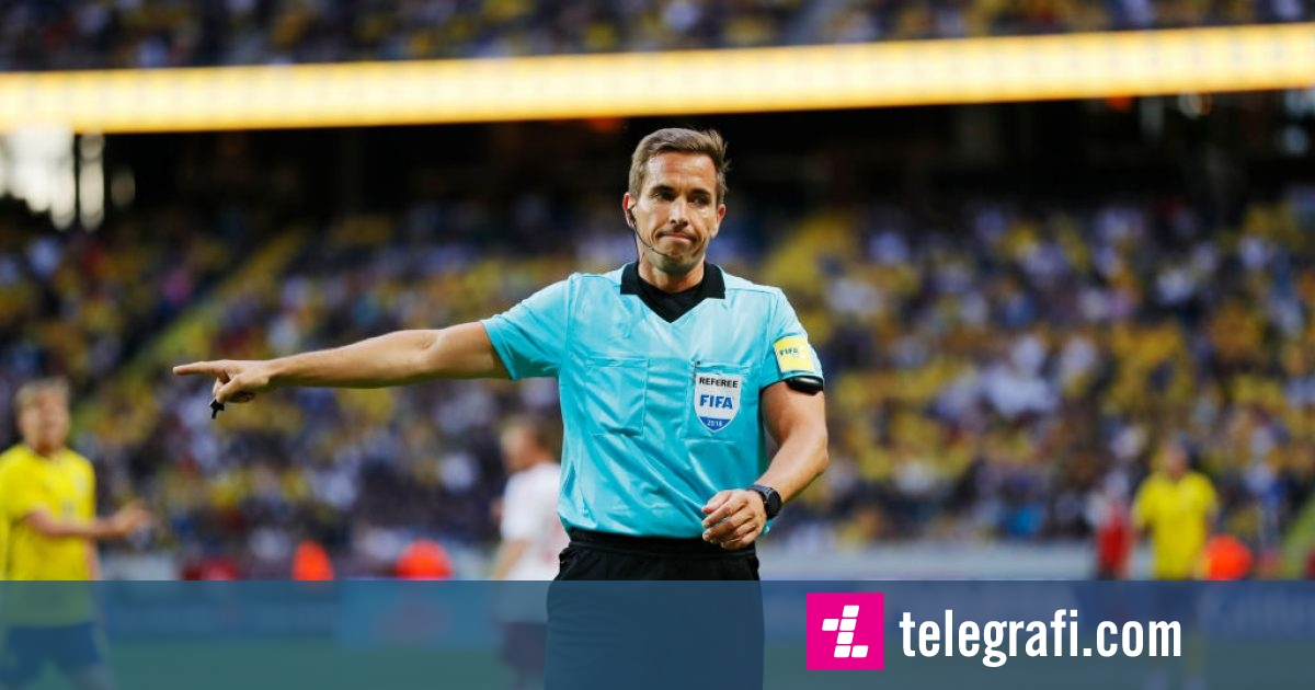 Gjermani Tobias Stieler ndan drejtësinë në ndeshjen Shqipëri-Turqi