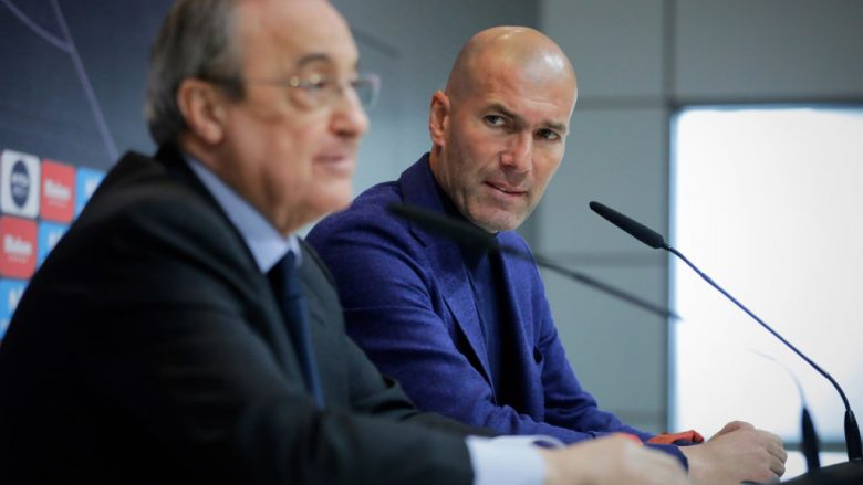 Florentino Perez dhe Zinedine Zidane (Foto: Gonzalo Arroyo Moreno/Getty Images/Guliver)