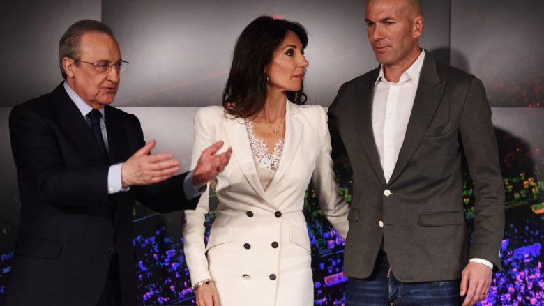 Florentino Perez, gruaja e Zinedine Zidane, Veronique dhe legjenda franceze (Foto: Denis Doyle/Getty Images/Guliver)