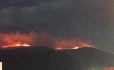 Zjarr në Malin e Zi të Shkupit, është intervenuar edhe me aeroplan