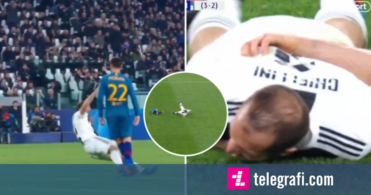 Chiellini dhe momentet e tij të 'aktrimit' ndaj Atleticos bëhen virale